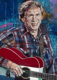 Buck Owens limited edition fine art print featuring Owens