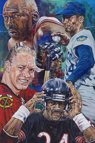 Chi-Town Champs: Chicago Sports Greats limited edition canvas giclee
