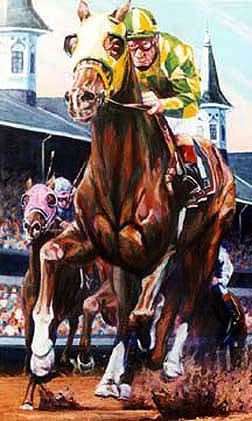 Churchill Downs horse racing print
