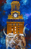 Code Orange: UT Tower with Bevo XIV fine art print