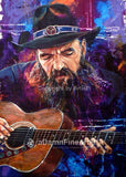 Contemplating Blaze fine art print featuring Blaze Foley