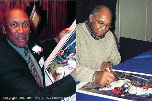 Cubs Trio: Ernie Banks, Fergie Jenkins and Billy Williams autographed limited edition print