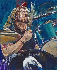 Dave Grohl original painting featuring Dave Grohl by Robert Hurst
