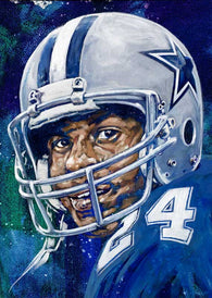 Everson Walls autographed limited edition fine art print signed by Walls
