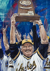Gene Stephenson - Wichita State University autographed fine art print signed by Stephenson