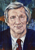 Gil Brandt autographed limited edition fine art print signed by Brandt