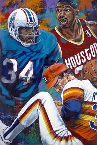 Houston 34's Redux limited edition canvas giclee