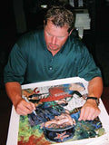 In the Clutch Roger Clemens (Yankees) autographed limited edition canvas giclee print