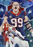 J J Watt in Action fine art print