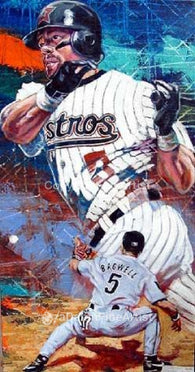 Jeff Bagwell autographed limited edition print