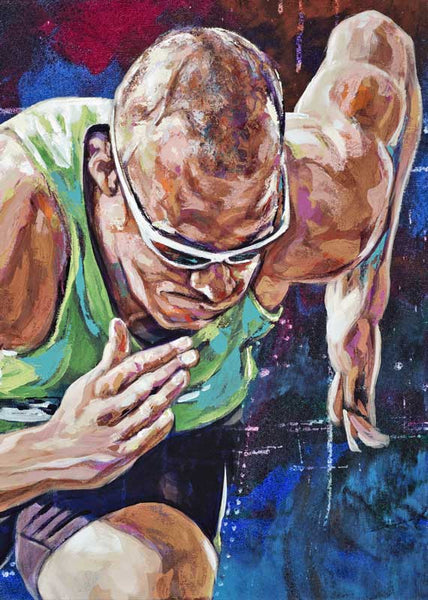 Jeremy Wariner autographed limited edition fine art print signed by Wariner