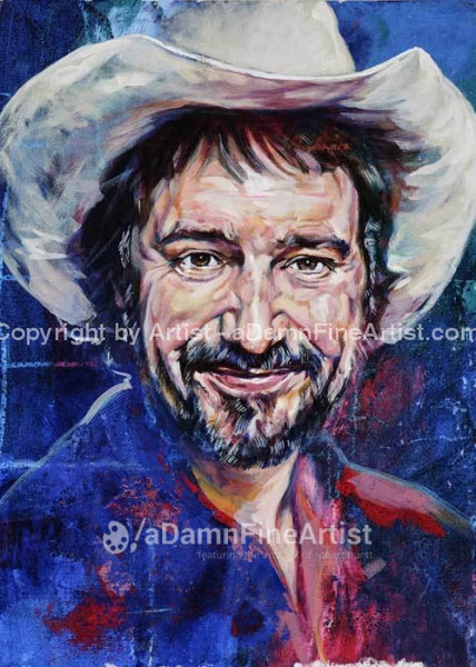 Jerry Jeff Walker Autographed Limited Edition Fine Art Print Signed By Walker