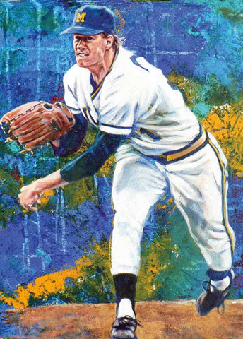 Jim Abbott - Michigan autographed limited edition print