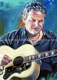 Jim Collins Autographed Limited Edition Fine Art Print Signed By Music Art