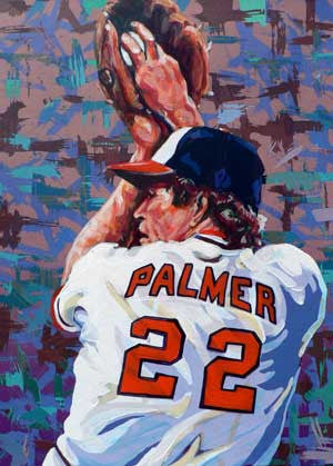 Jim Palmer limited edition autographed art print