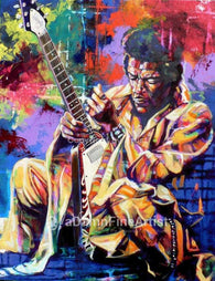 Jimi Hendrix Flying V fine art print