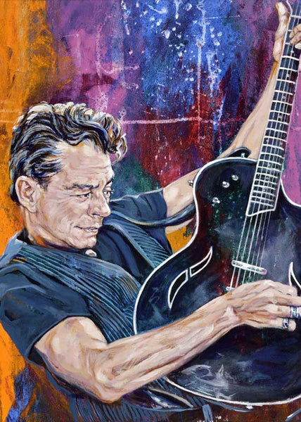 Joe Ely autographed limited edition fine art print signed by Ely