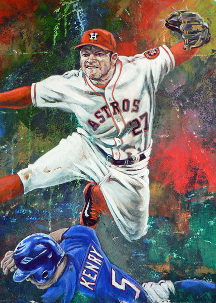 Jose Altuve fine art print - autographed prints now available