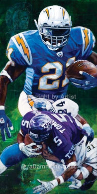 LaDainian Tomlinson autographed limited edition print