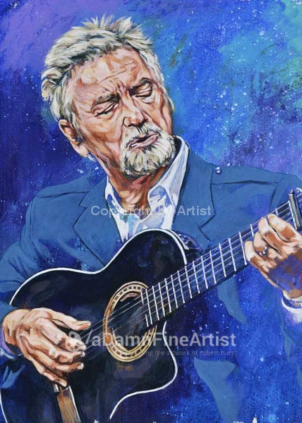 Larry Gatlin autographed limited edition fine art print signed by Gatlin