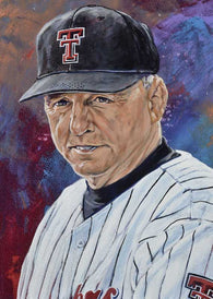 Larry Hays - Texas Tech autographed fine art print signed by Hays