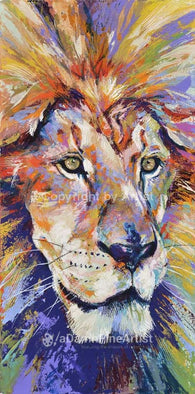 Lion AKA His Majesty limited edition canvas giclee print featuring a lion