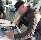 Mark Kotsay signing his CBHOF fine art print by artist Robert Hurst