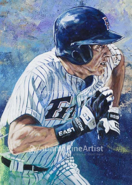 Mark Kotsay - Cal State Fullerton autographed fine art print signed by Kotsay
