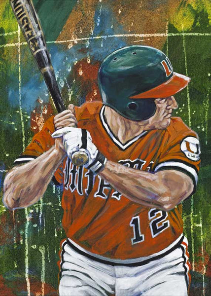 Mike Fiore - University of Miami autographed fine art print signed by Fiore