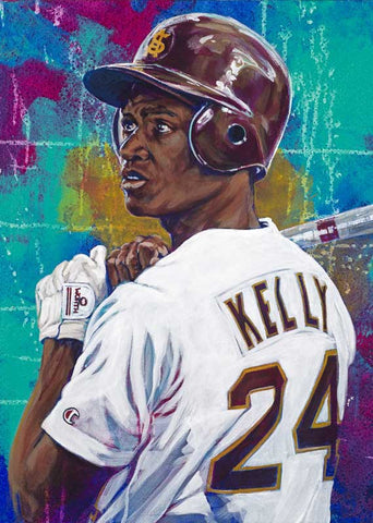 Mike Kelly - Arizona State autographed fine art print signed by Kelly