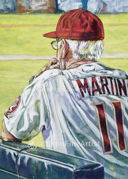 Mike Martin - Florida State autographed fine art print signed by Martin
