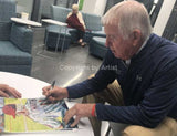 signing his CBHOF fine art print by artist Robert Hurst
