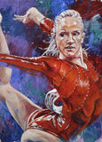 Nastia Liukin autographed limited edition fine art print signed by Liukin