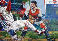 Out, a fine art print featuring Thurman Munson