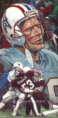Ray Childress autographed limited edition print