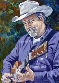 Robert Earl Keen autographed limited edition fine art print