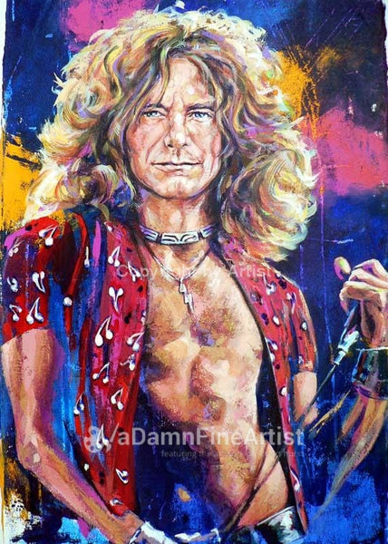 Robert Plant of Led Zeppelin fine art print