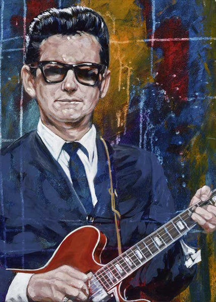 Roy Orbison limited edition fine art print featuring Orbison