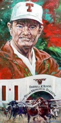 Royal Stampede limited edition autographed print signed by Darrell Royal