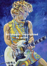 Samantha Fish fine art print and limited edition canvas giclee featuring Fish