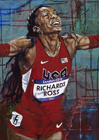 Sanya Richards-Ross autographed limited edition fine art print signed by  Richards-Ross