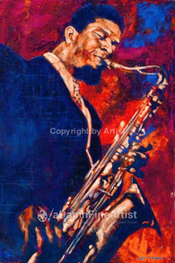 Sonny Rollins original painting by Robert Hurst