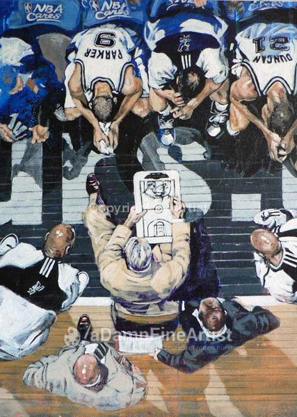 Spurs Game Plan fine art print