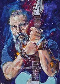 Steve Earle autographed limited edition fine art print signed by Earle