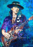 Stevie Ray Vaughan Blue-Violet fine art print and limited edition canvas giclee