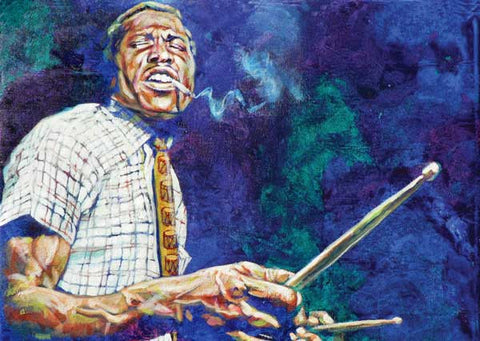 The Drummer fine art print featuring Elvin Jones