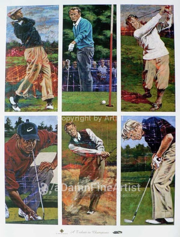 The Legends of Golf fine art print