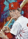 Tom Paciorek - University of Houston autographed fine art print signed by Paciorek