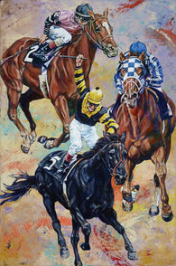 3 Kings limited edition giclee on canvas featuring Triple Crown winners