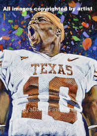 Vince Young autographed limited edition fine art print signed by Young